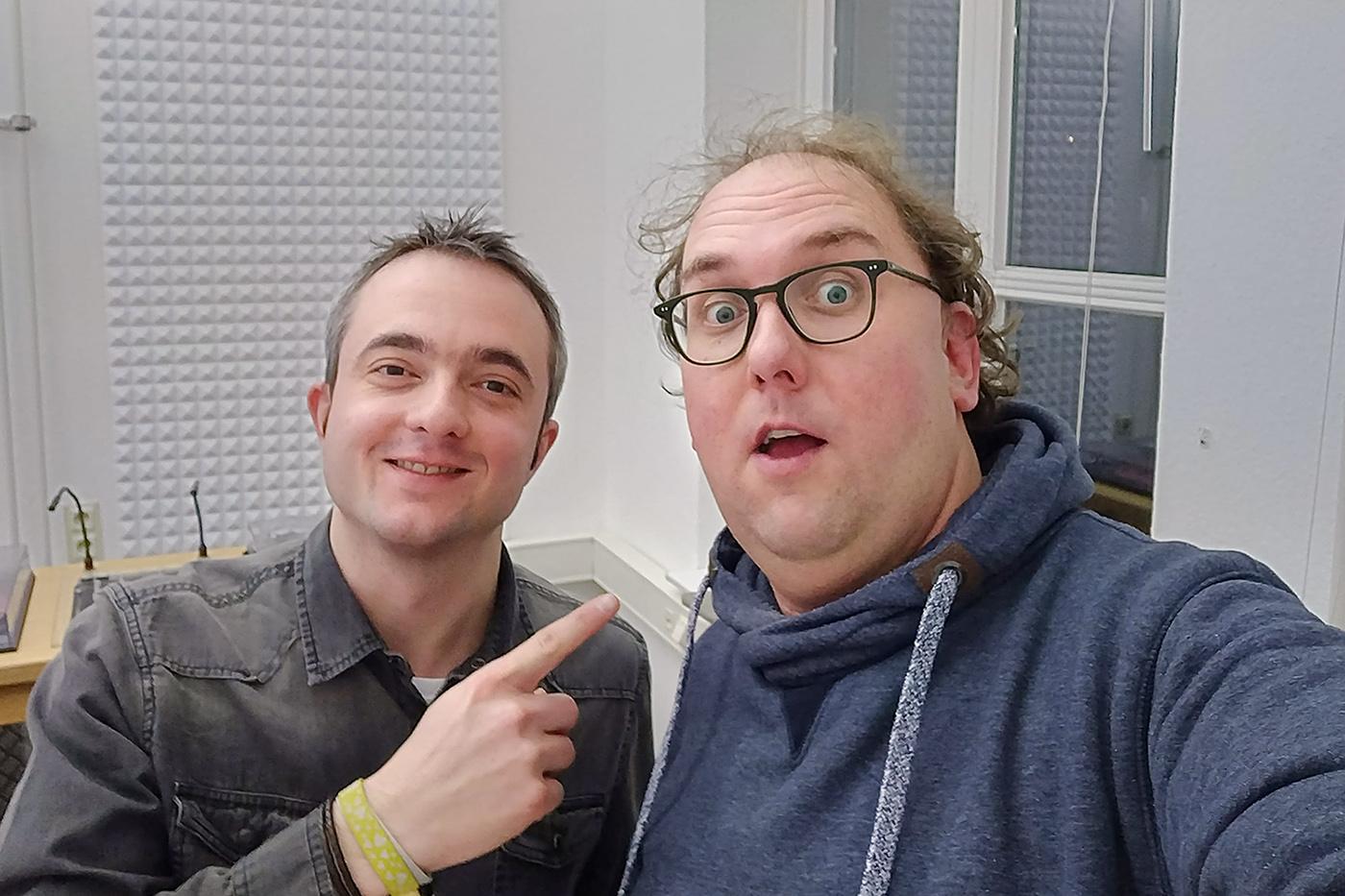 Markus Hörster und Christian Cordes im Studio von Radio Okerwelle in Braunschweig
