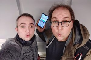 Markus Hörster und Christian Cordes nach Episode 24 von Logbuch Digitalien im Studio von Radio Okerwelle