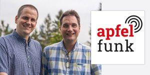 Apfelfunk Malte Kirchner aus Wilhelmshaven und Jean-Claude Frick aus Bern