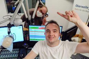 Markus Hörster und Christian Cordes im Studio von Radio Okerwelle in Braunschweig nach Logbuch Digitalien Episode 42