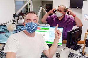 Markus Hörster und Christian Cordes im Studio von Radio Okerwelle in Braunschweig nach Logbuch Digitalien Episode 43