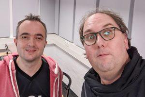 Markus Hörster und Christian Cordes im Studio von Radio Okerwelle in Braunschweig nach Logbuch Digitalien Episode 45